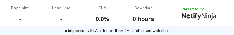 Uptime and updown monitoring for alidipoesia.tk