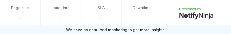 Uptime and updown monitoring for community.sony.pt