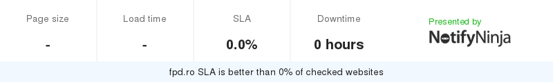 Uptime and updown monitoring for fpd.ro
