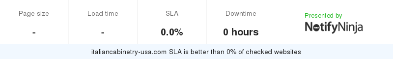 Uptime and updown monitoring for italiancabinetry-usa.com